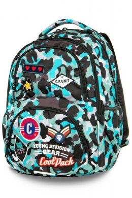COOLPACK CP PLECAK CAMO BLUE BADGES DART XL