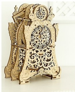 Drewniane puzzle mechaniczne 3D Wooden.City Magic Clock #T1